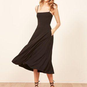 Reformation Bettie Dress in Black size XL NWT